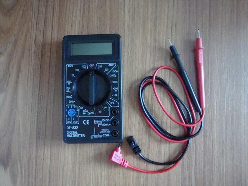Правила применения мультиметра dt 832